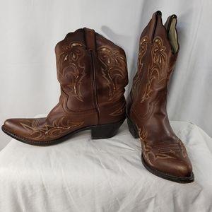 Durango Brown Cowboy Western Boots Size 8M